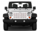 Jeep Gladiator Grill Inserts 2020-Present Gladiator Candy Cane Grinch Under The Sun Inserts - INSRT-CNDYGNCH-JT - Image 2