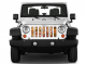 Jeep Gladiator Grill Inserts 2020-Present Gladiator Candy Love Under The Sun Inserts - INSRT-CNDYLV-JT - Image 2