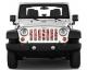 Jeep Gladiator Grill Inserts 2020-Present Gladiator Candy Cane Mix Under The Sun Inserts - INSRT-CNDYMX-JT - Image 2