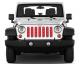 Jeep Gladiator Grill Inserts 2020-Present Gladiator Candy Cane Paper Under The Sun Inserts - INSRT-CNDYPR-JT - Image 2