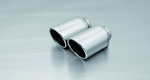Remus Chromed 102mm Angled Tail Pipe Set Audi TT 8S 2015