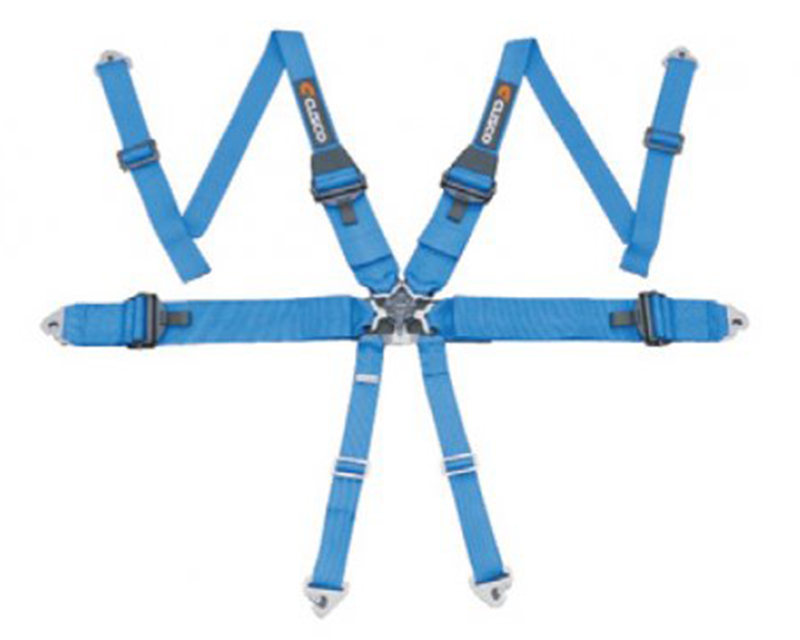 Cusco 6-Point Blue Hans Compatible Racing Harness