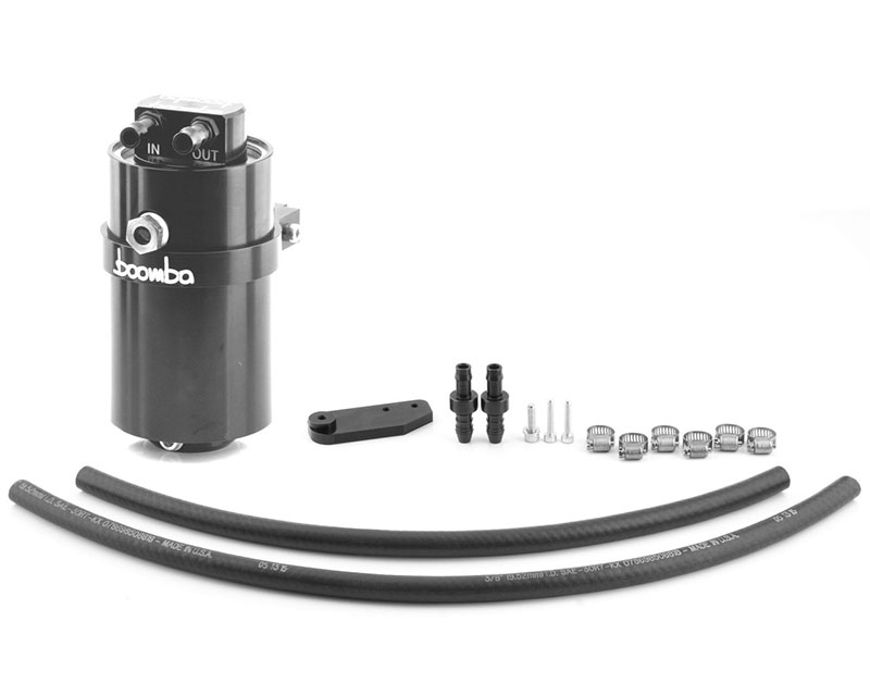 Boomba Racing Ford Mustang Ecoboost Stage 2 Oil Catch Can Kit PCV 15-17