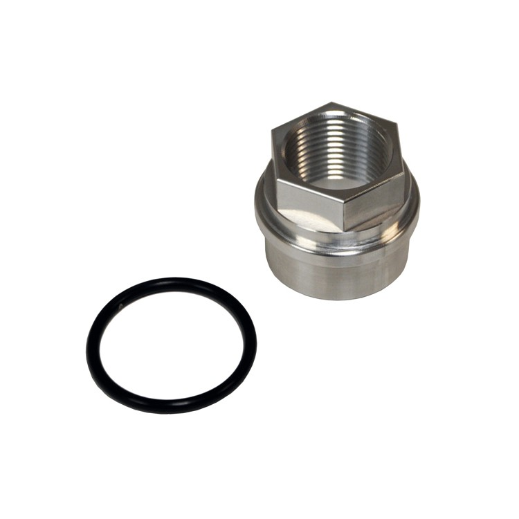 "034 Motorsport Block Breather Adapter, Audi/Volkswagen 1.8T, Billet Aluminum, Threaded 3/4"" NPT"