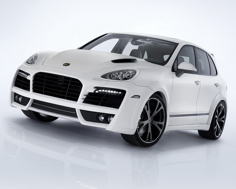 TechArt Magnum Aero Wide Body Kit Black Running Lights Porsche Cayenne Turbo 958 with Tow Hitch 11-14 - 058.100.063.009BLK