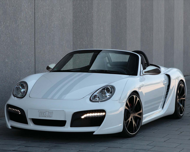 TechArt Wide Body Kit with Chrome Running Lights Porsche Boxster without OE DRL 05-12 - 087.100.052.009CHR