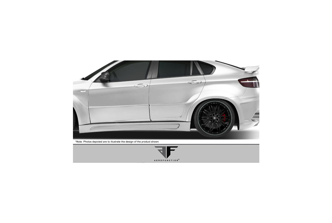 Aero Function AF-3 Wide Body Rear Door Caps 2 Piece BMW X6 X6M 09-14