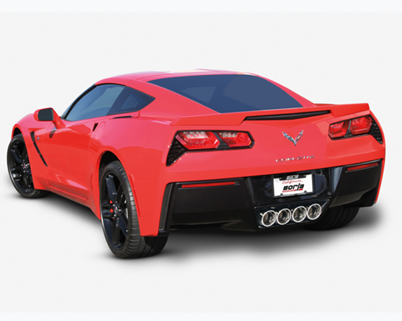 Borla Atak 2.75inch 2.25inch Dual Round Rolled Angle Cut Exhaust Exhaust Corvette C7 6.2L V8 14+