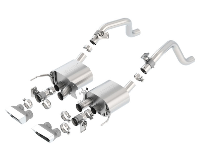 Borla ATAK Rear Section Exhaust with Dual Rectangular Tips Chevrolet Corvette C7 6.2L 14-15
