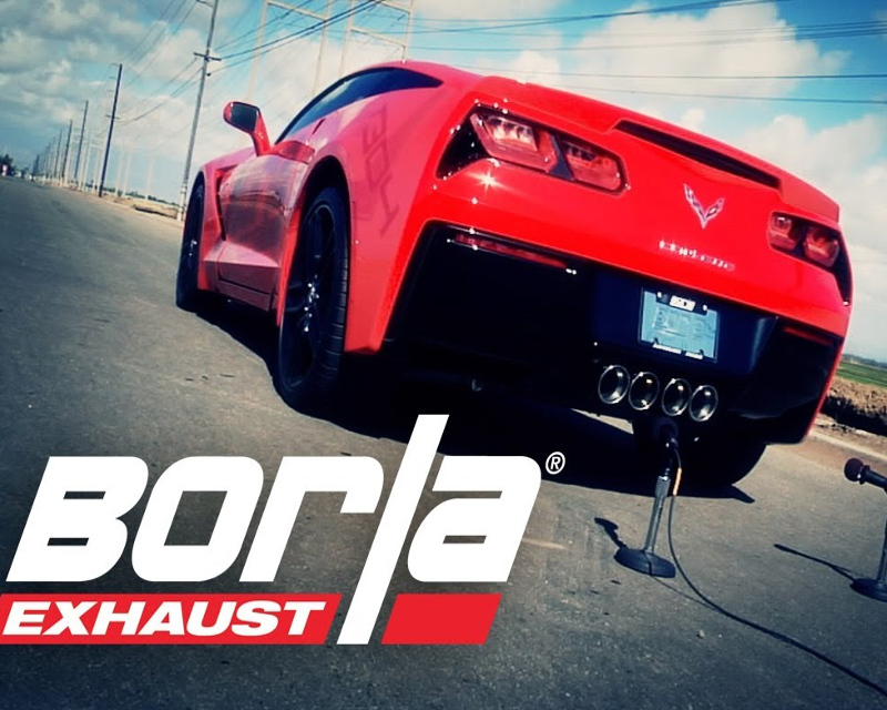 Borla ATAK Rear Section Exhaust with 4.25inch Dual Round Tips Chevrolet Corvette C7 6.2L 14-15