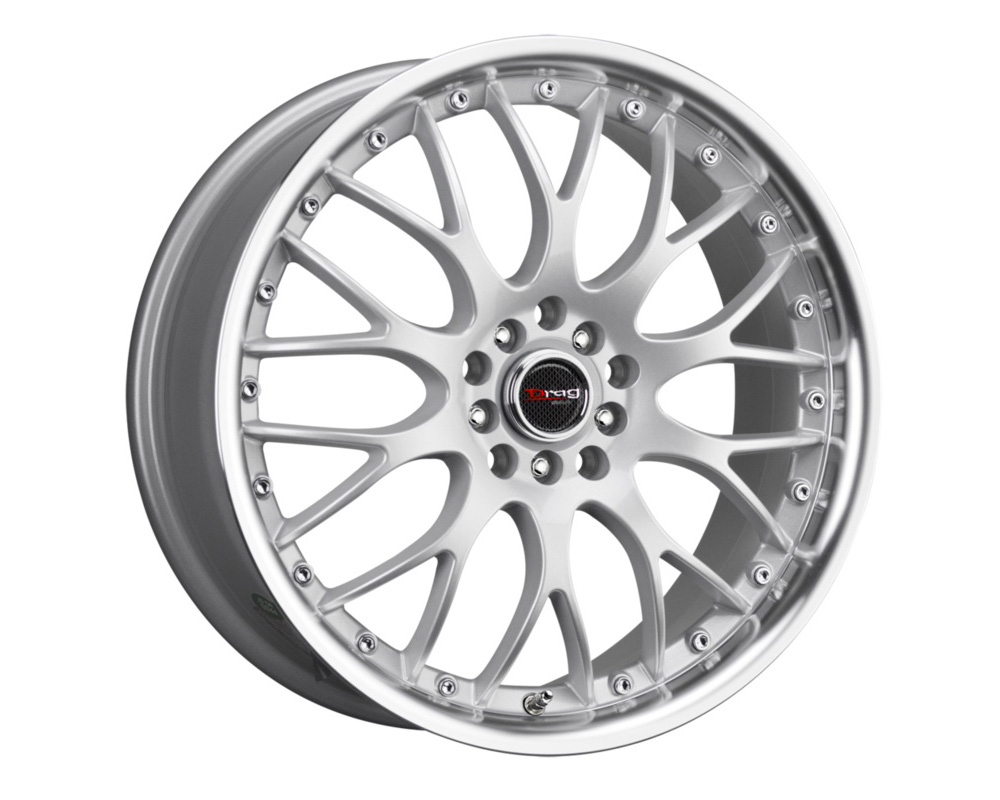 "Drag DR-19 17x8 5-108.0/4.25""-115.0 Silver Machined Lip"