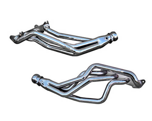 BBK Chrome Coyote Swap Full Length Headers X Pipes Ford Mustang 87-04