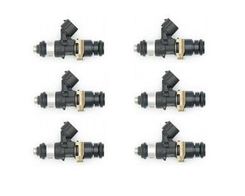 Deatschwerks Set of 6 High Impedance 2200cc Fuel Injectors Top Feed Conversion 14mm O Ring Toyota Supra TT 93-98 - 16S-08-2200-6