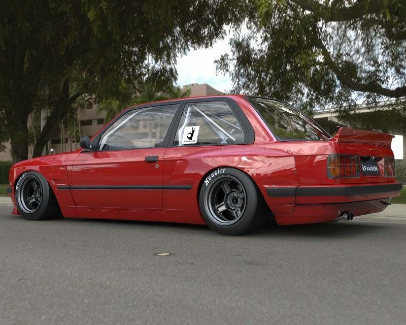 Pandem FRP Duck Tail Wing BMW E30 318is Coupe 89-91
