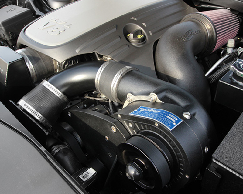 ProCharger Black Finished with Black Bracket Complete H.O. Intercooled Kit Dodge Charger Hemi R/T 5.7L V8 15-16