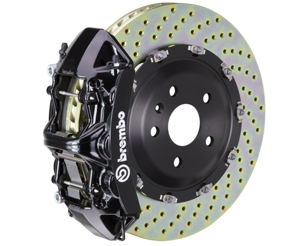 Brembo 355x32 1 Piece Rotor 6 Piston Black Front Drilled Big Brake Kit Chevrolet Camaro LT 16-17