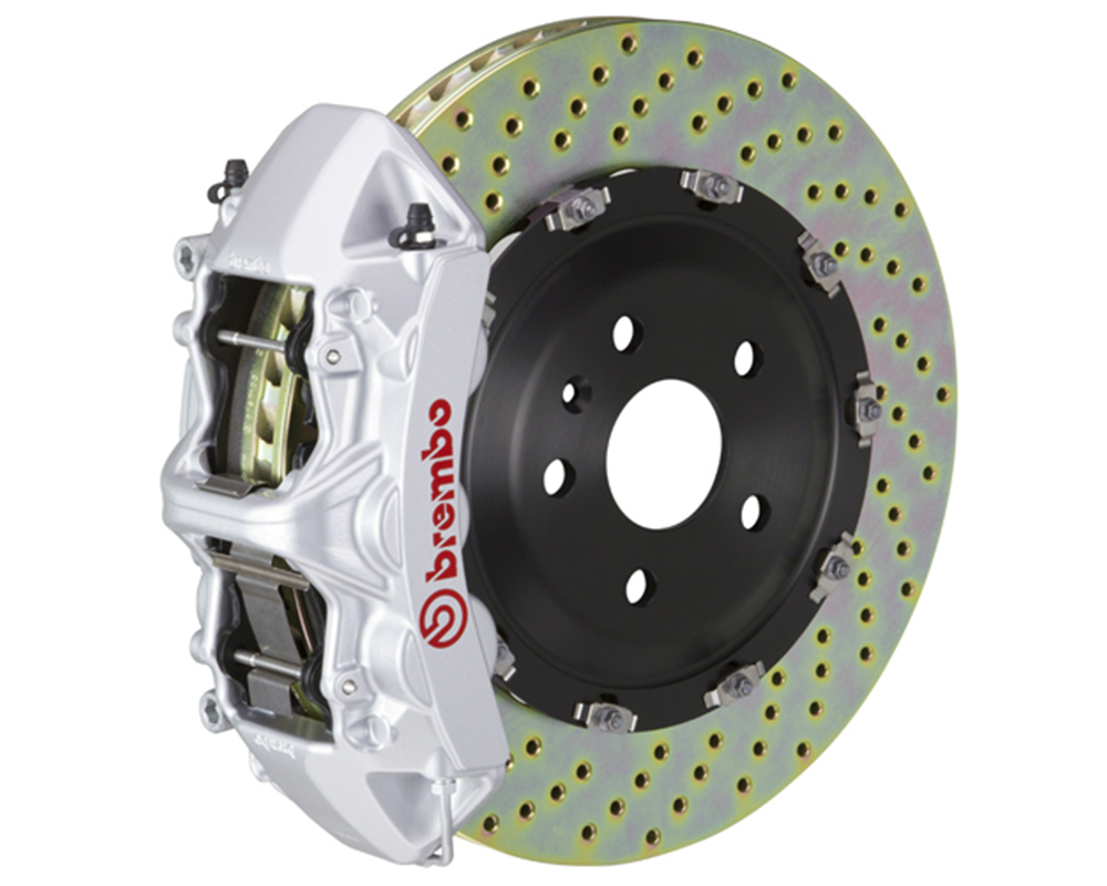 Brembo 355x32 1 Piece Rotor 6 Piston Siver Front Drilled Big Brake Kit Chevrolet Camaro LT 16-17