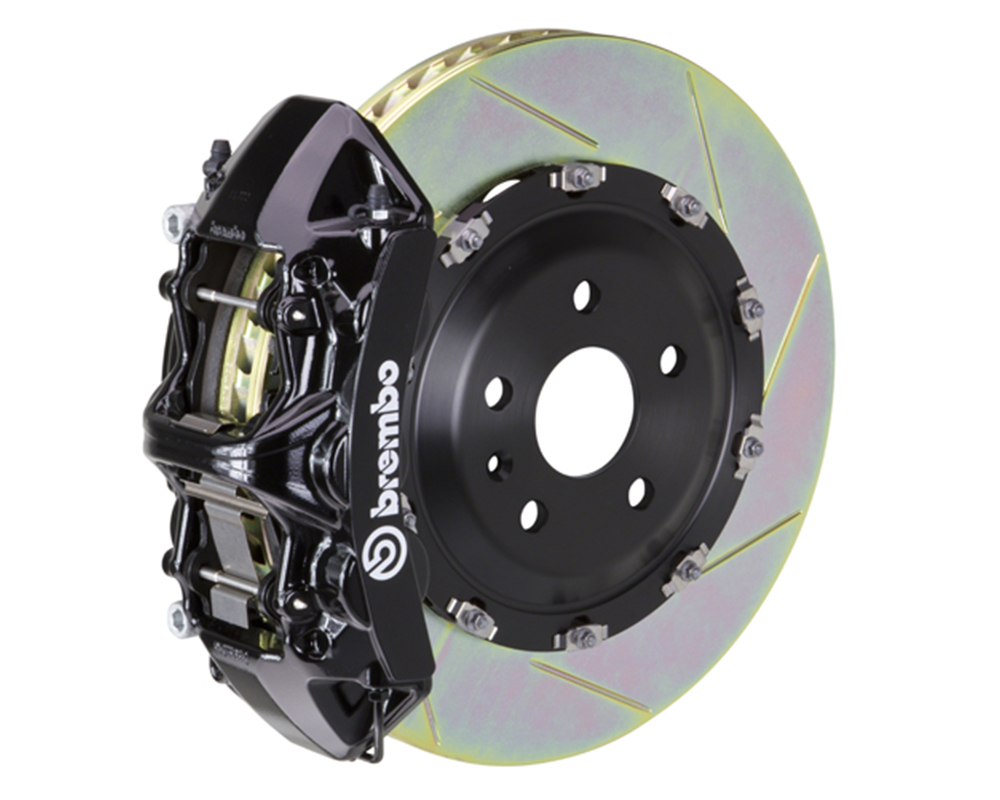 Brembo 355x32 1 Piece Rotor 6 Piston Black Front Slotted Big Brake Kit Chevrolet Camaro SS 16-17