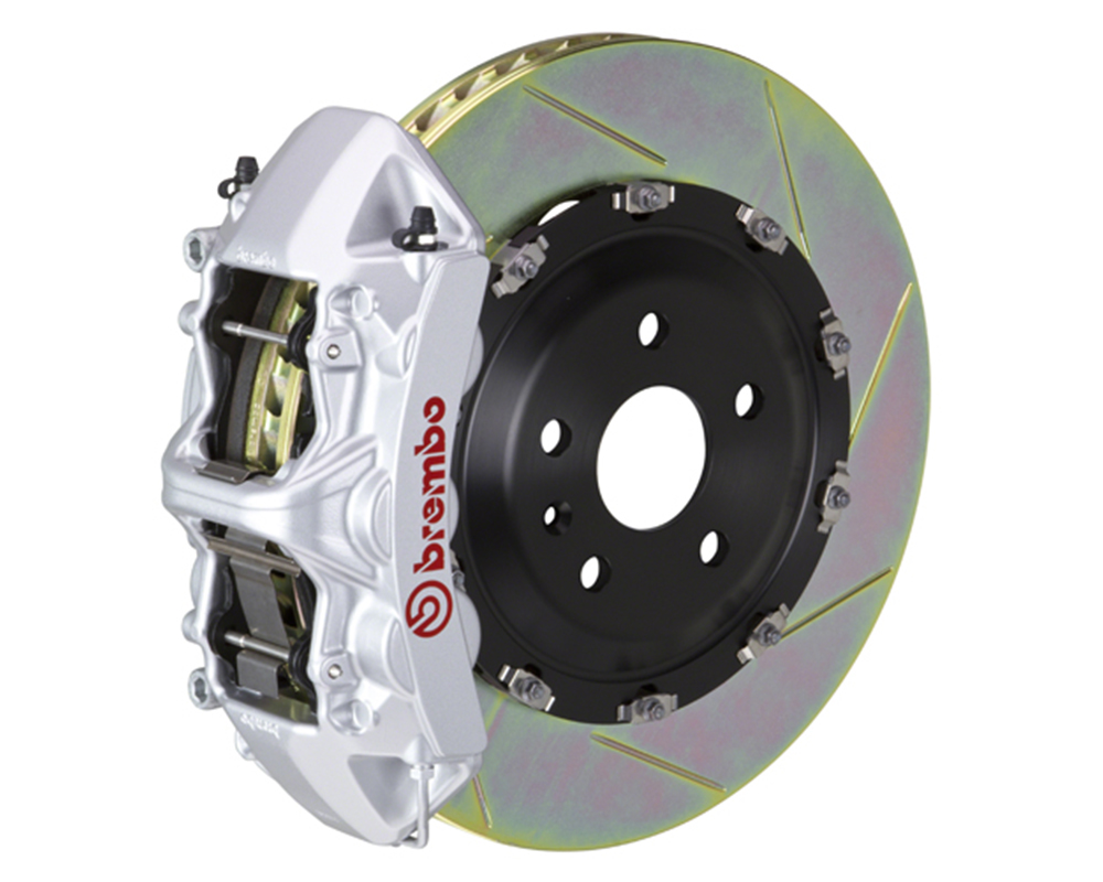 Brembo 355x32 1 Piece Rotor 6 Piston Silver Front Slotted Big Brake Kit Chevrolet Camaro SS 16-17