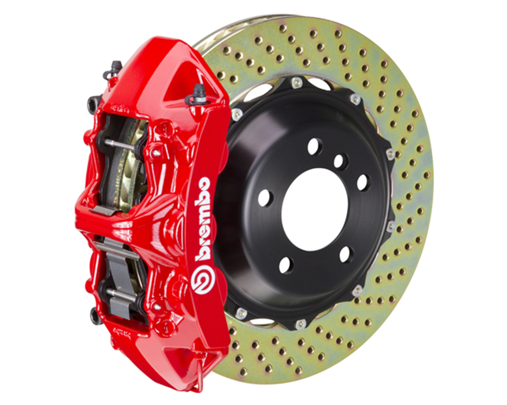 Brembo 355x32 2-Piece 6 Piston Red Front Drilled Big Brake Kit Ferrari 348 89-93