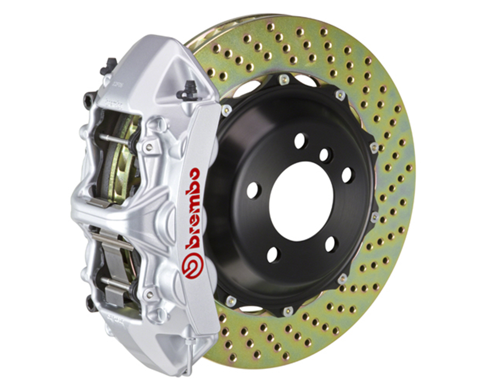 Brembo 355x32 2-Piece 6 Piston Silver Front Drilled Big Brake Kit Ferrari 348 89-93