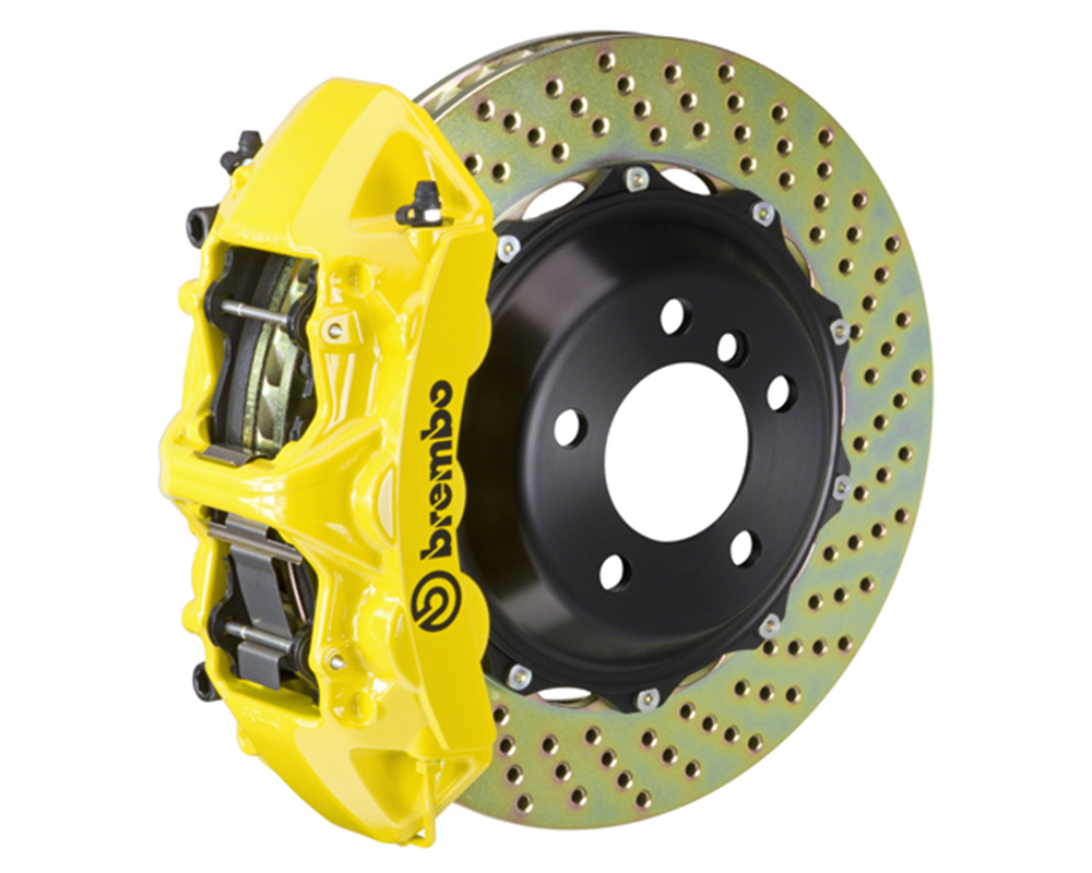 Brembo 355x32 2-Piece 6 Piston Yellow Front Drilled Big Brake Kit Ferrari 348 89-93