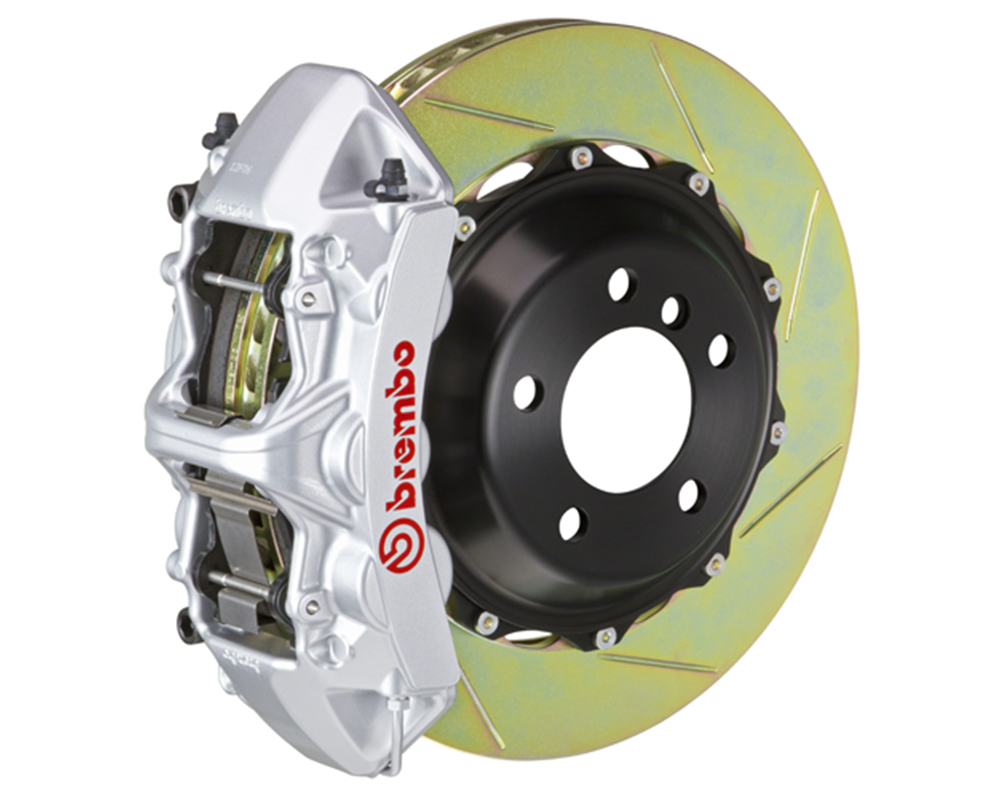 Brembo 355x32 2-Piece 6 Piston Silver Front Slotted Big Brake Kit Ferrari 348 89-93