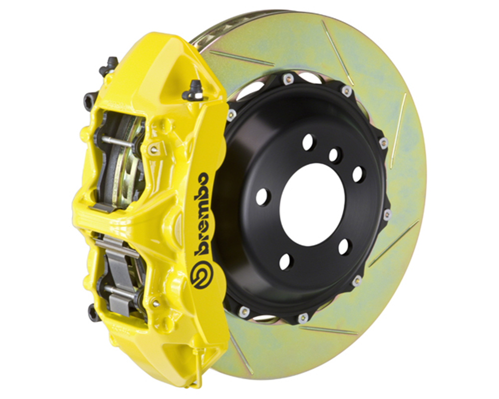 Brembo 355x32 2-Piece 6 Piston Yellow Front Slotted Big Brake Kit Ferrari 348 89-93
