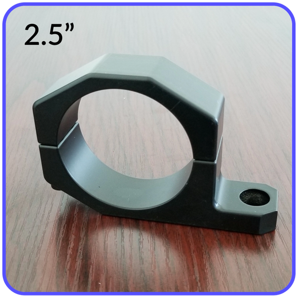 2.5 Inch Inside Diameter Roll Cage Clamp Aluminum Black Anodized Pyramid LED Whips - 2.5RCC