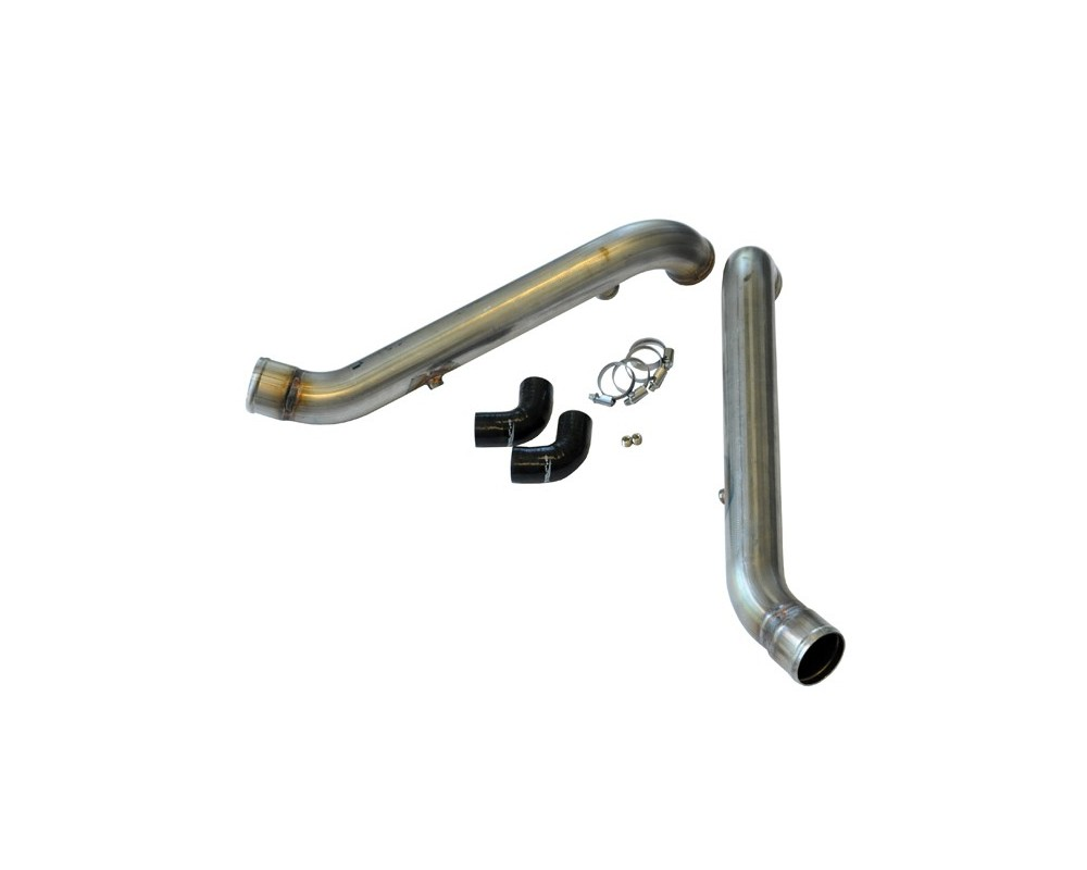 034 Motorsport Raw Bipipe Set, B5 Audi S4 & C5 Audi A6/Allroad 2.7T, Stainless Steel with WMI Bungs - 034-108-5001-RAW