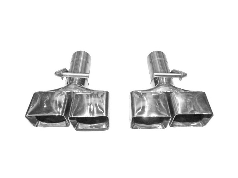 """Solo Performance 2"""" Weld On Exhaust Tips (Pair) Dodge Challenger RT 2008-2014 - T607-1R2.5WO"""