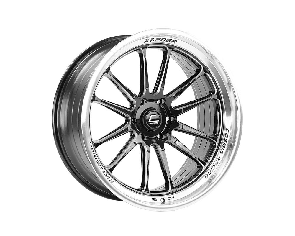 Cosmis Racing XT-206R Wheel 22x10 6?139.7 +0mm Black w/ Machined Lip & Spokes - XT206R-2210-0-6X139.7-BML