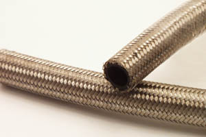 Canton Racing Products -6 An Stainless Braided Hose - 1 Foot