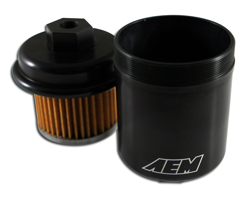 AEM Hi Vol Fuel Filter Acura TL 3.2L | 3206ccV6 [C32A6] 96-98 Acura Tl Fuel Filter on