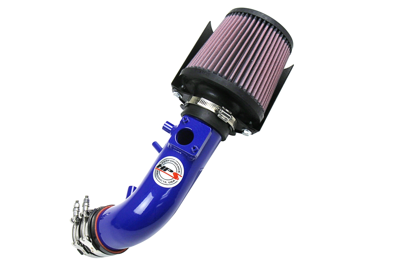 HPS Blue Shortram Air Intake + Heat Shield for 07-09 Honda CRV 2.4L