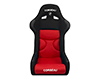 Corbeau FX1 Pro Seats Fixed Back in Black / Red Cloth 29507