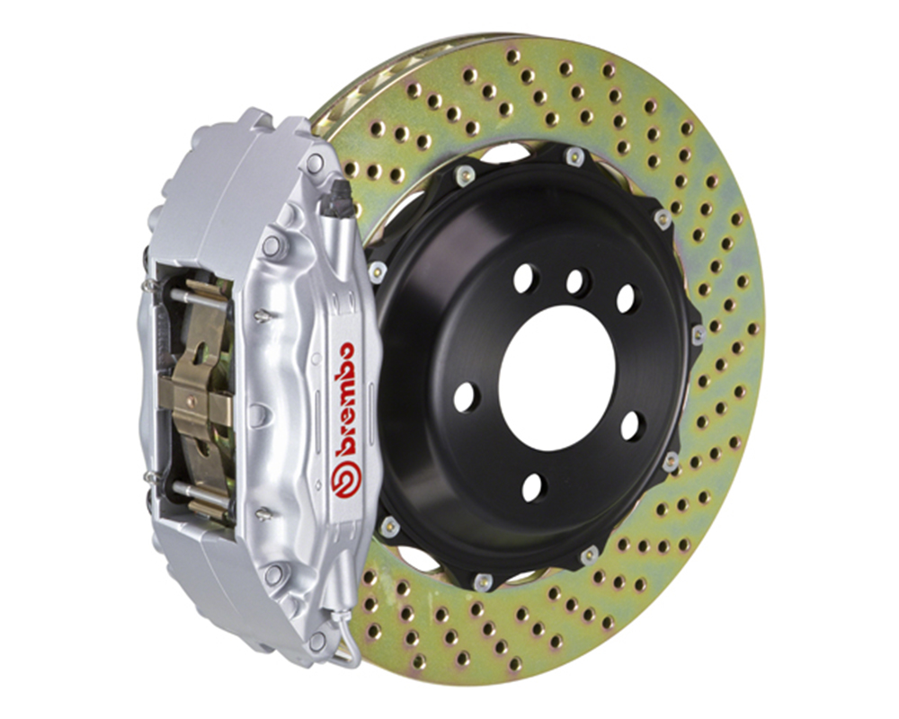 Brembo 355x32 2-Piece 4 Piston Silver Rear Drilled Big Brake Kit Ferrari F355 94-99
