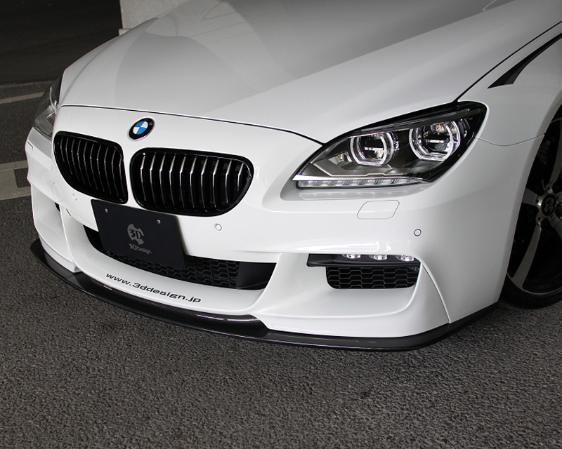 3D Design Carbon Fiber And Urethane Front Lip Spoiler BMW 6 Series F06 | F12 | F13 M Sport 12-15