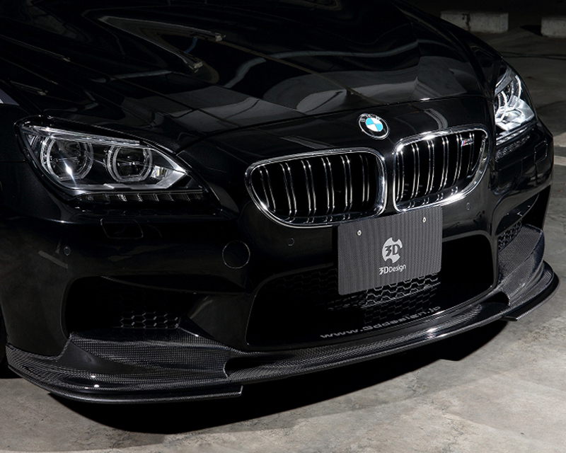 3D Design Carbon Fiber Front Lip Spoiler Set BMW 6 Series F06 | F12 | F13 12-15