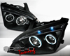 SpecD Black CCFL Halo LED Projector Headlights Ford Focus 05-07