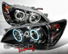 SpecD Black CCFL Halo LED Projector Headlights Lexus IS300 01-05