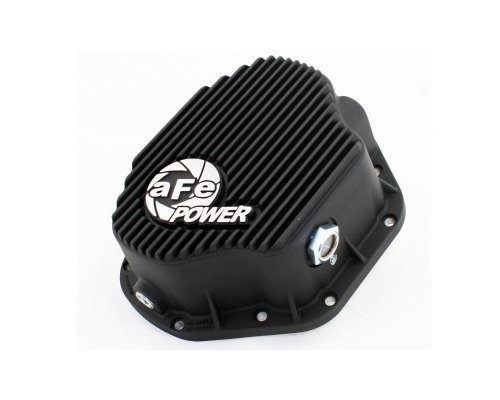 aFe Power Black Rear Differential Cover Ford F-450 Power Stroke V8 6.0/7.3L 99-07