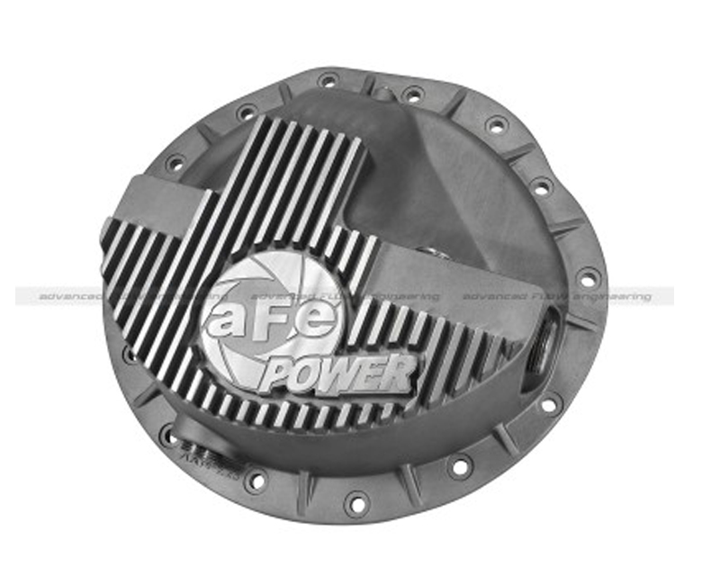 aFe Front Differential Cover Raw Street Series Dodge Diesel Trucks 03-12