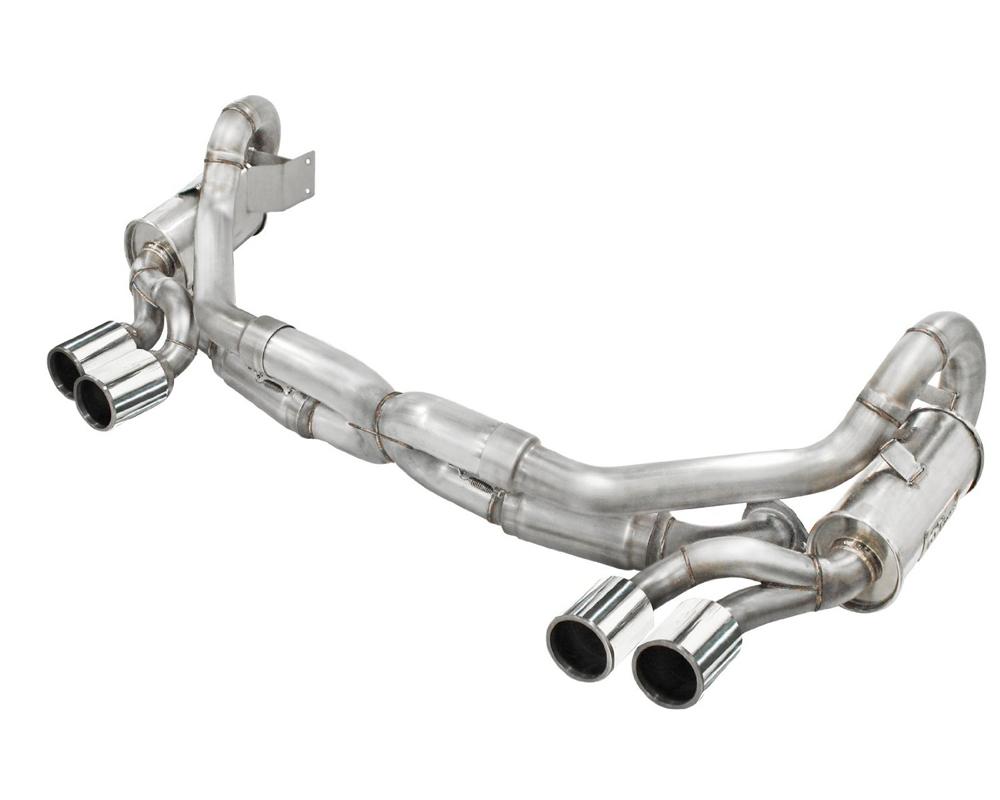 aFe Stainless Steel Catback w| Polished Tips Porsche 911 C2|C2S 991 H6-3.8L 12-16