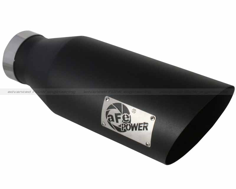 aFe Power MACH Force XP Black Stainless Steel Tip 4 In x 7 Out x 18 L in