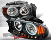 SpecD Black CCFL Halo Headlights Dodge Dakota 97-03