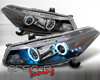 SpecD Black CCFL Halo Projector Headlights Honda Accord 2D 08-09