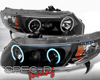 SpecD Black CCFL Halo Projector Headlights Honda Civic 06-08 2D