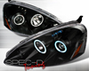 SpecD Black CCFL Halo Projector Headlights Acura RSX 05-06