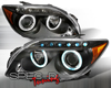 SpecD Black CCFL Halo LED Projector Headlights Scion tC 04-10